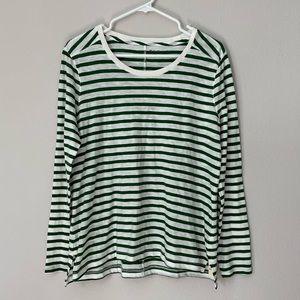 BNWT Madewell Striped Long Sleeve Shirt L